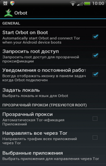 Orbot Tor on Android