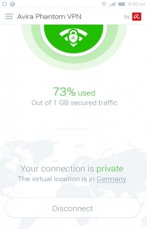 Avira Phantom VPN для Андроид