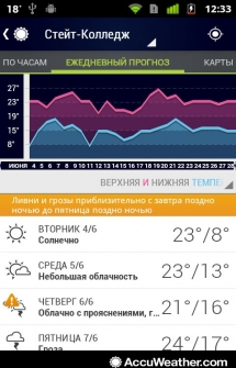 AccuWeather для Андроид