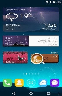 Виджет GO Weather EX на Андроид