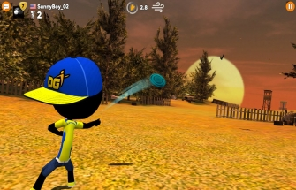 Игра Stickman Disc Golf Battle