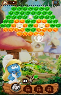 Игра Smurfs Bubble Story на Андроид